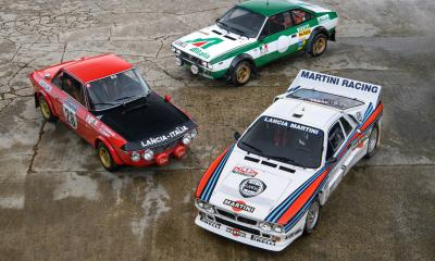 * A collection of significant Lancia Works Rally Cars *